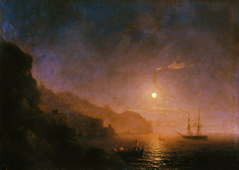 Ivan Aivazovsky. A night in Amalfi