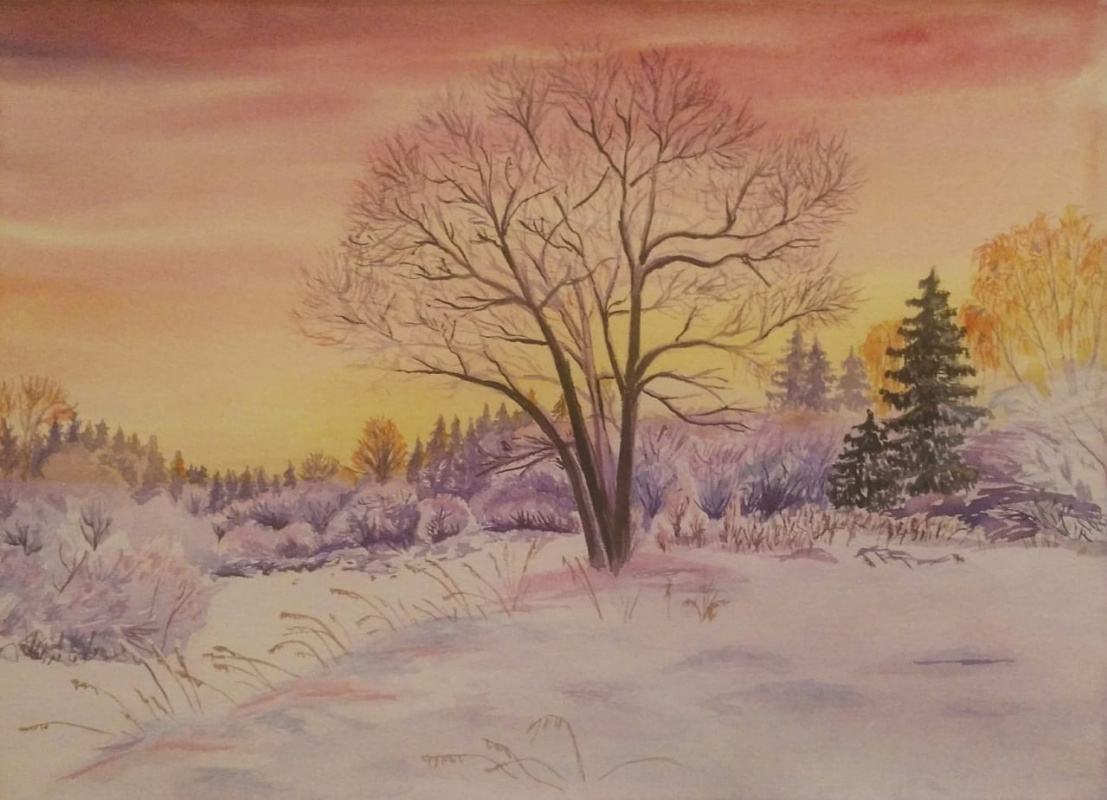 Olga Nadtochaeva. Winter sunset