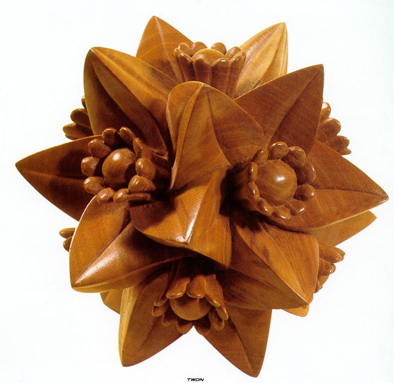 Мауриц Корнелис Эшер. Многогранник с цветами