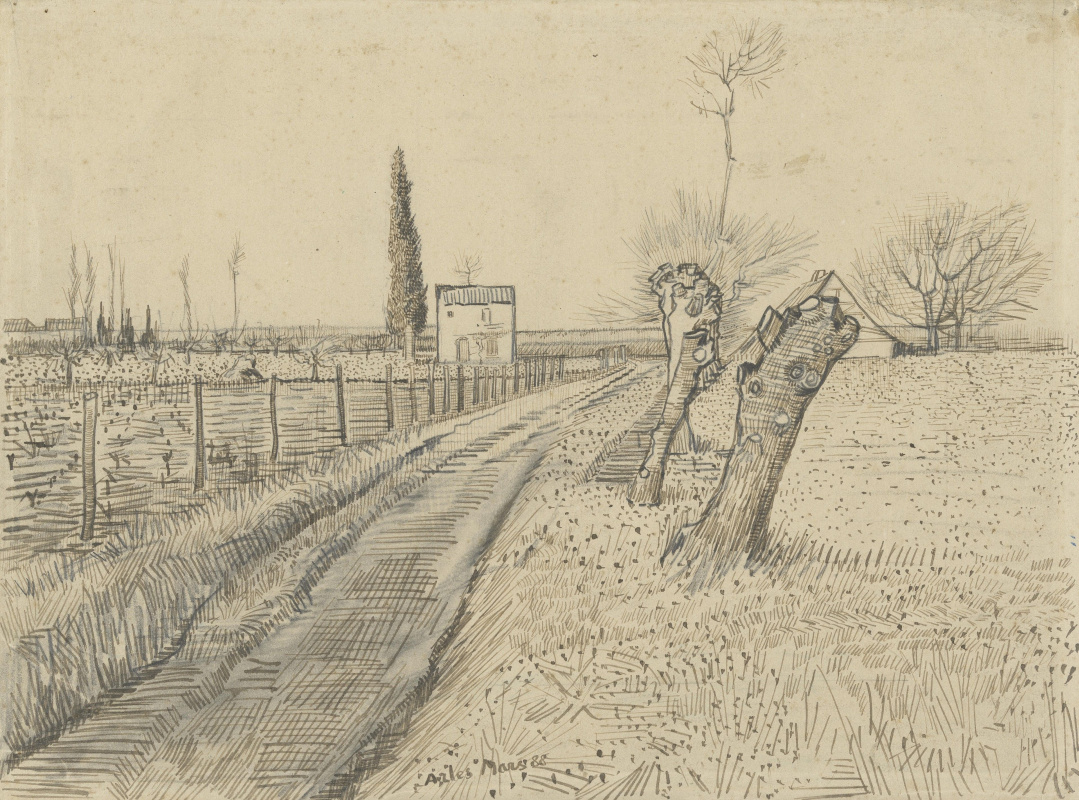 Vincent van Gogh. Landscape with road and cut willows