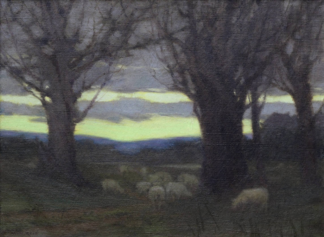 Mary Augusta Hister Reed. Sheep in the pasture