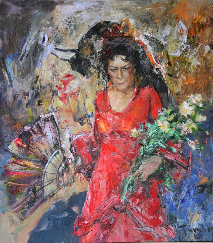 Tuman Art Gallery Tumana Zhumabayeva. Elena Obraztsova as Carmen