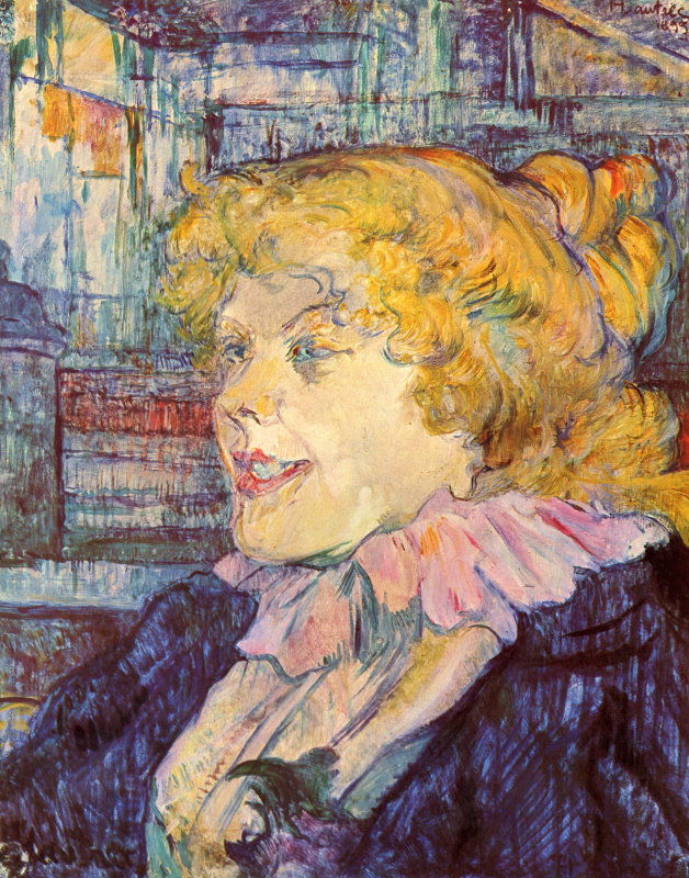 "Henri de Toulouse-Lautrec. Portrait of miss dolie of the variety ""star"" in Le Havre"