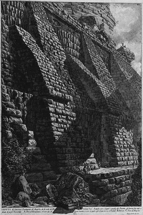 Джованни Баттиста Пиранези. Основание мавзолея Адриана