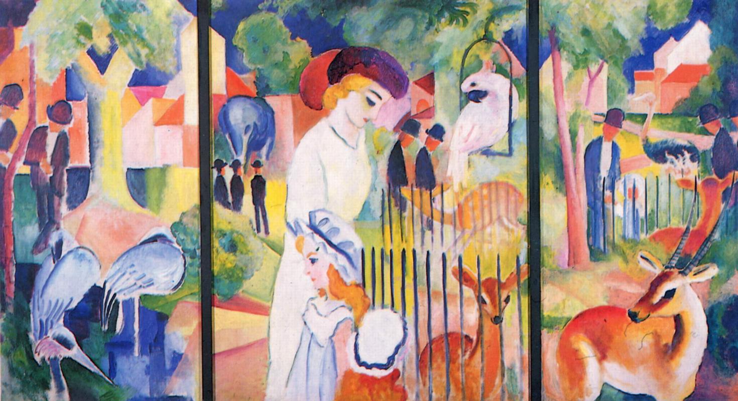 August Macke. Great zoo, triptych