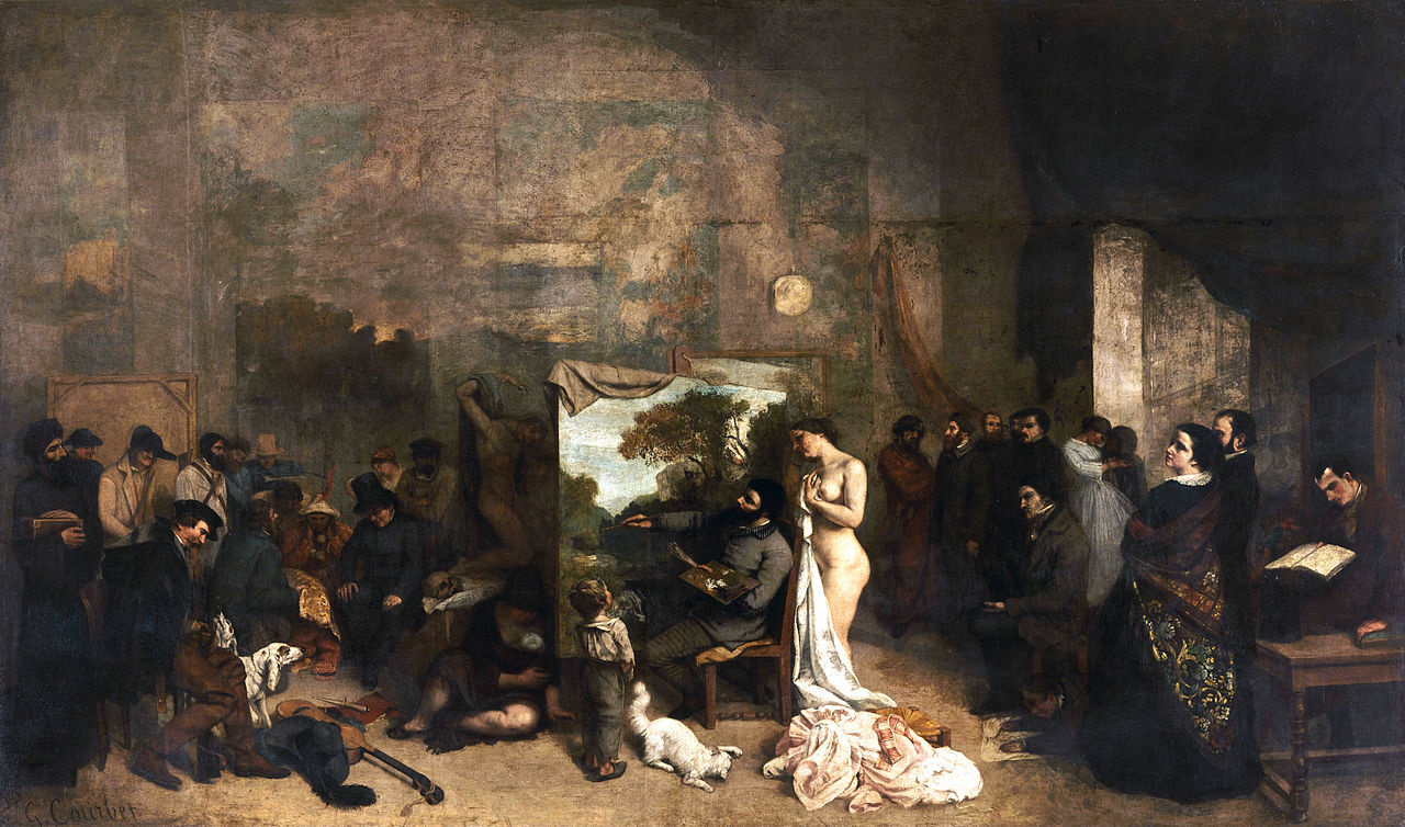 Gustave Courbet. The artist's Studio