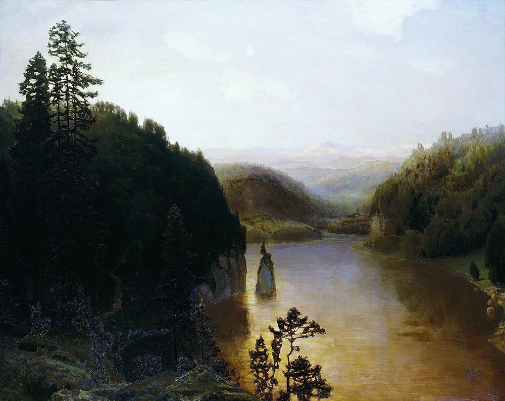 Аполлинарий Михайлович Васнецов. Озеро в горной Башкирии