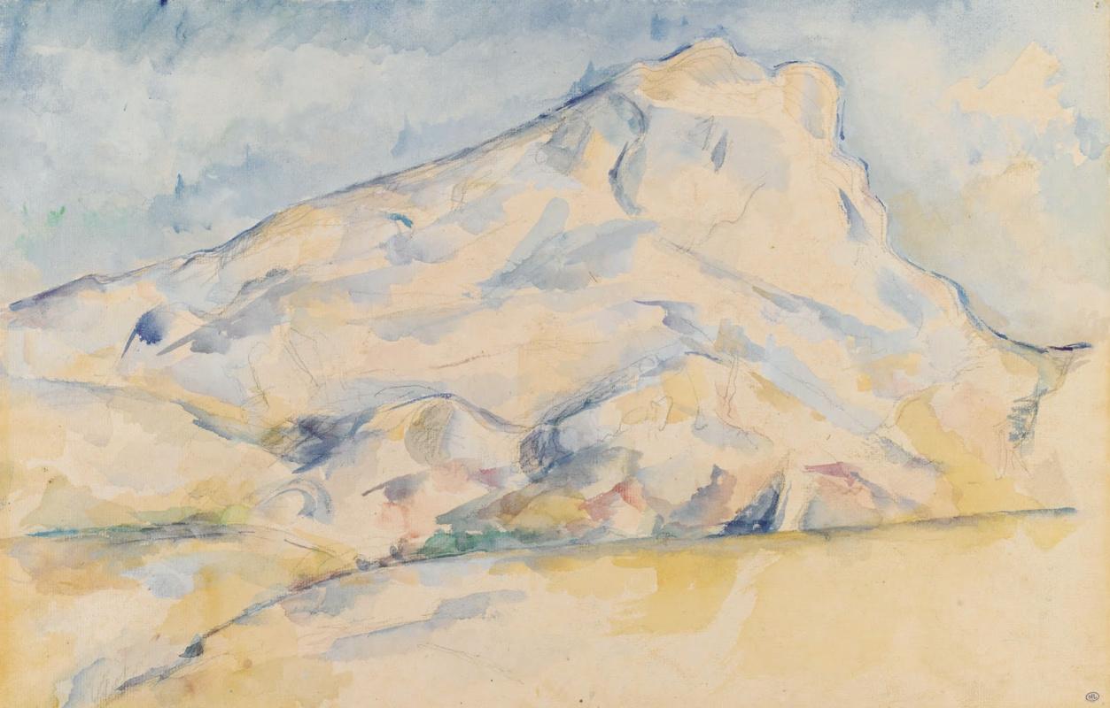 Поль Сезанн. Гора Сент-Виктуар (Гора святой Виктории), набросок