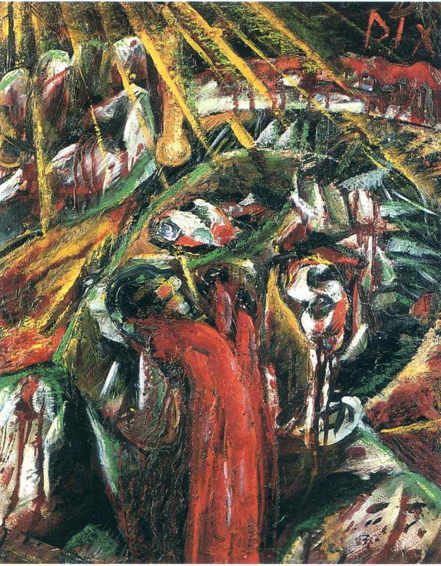Otto Dix. Red figure