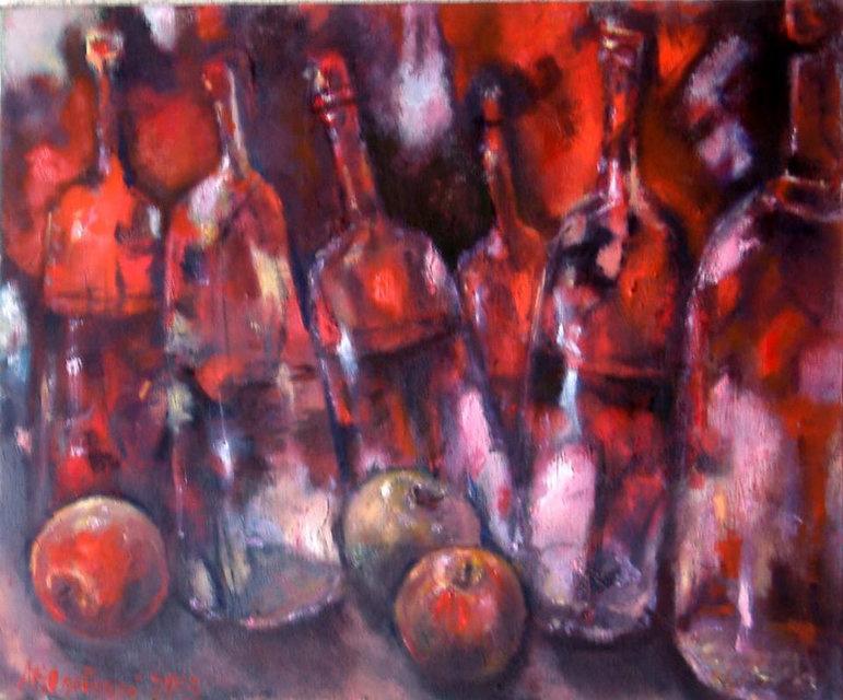 Michael Yudovsky. Bottle and apples