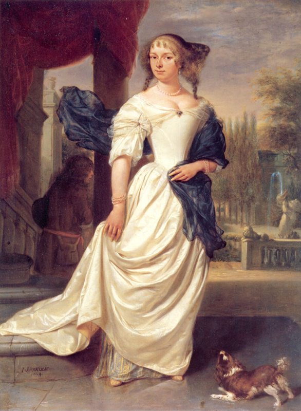 Портрет Маргарета Делф жены Йохана-де-ла-Фая