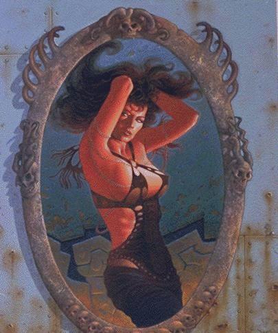 Франсуа Мивилле-Дешенес. Отражение девушки в зеркале