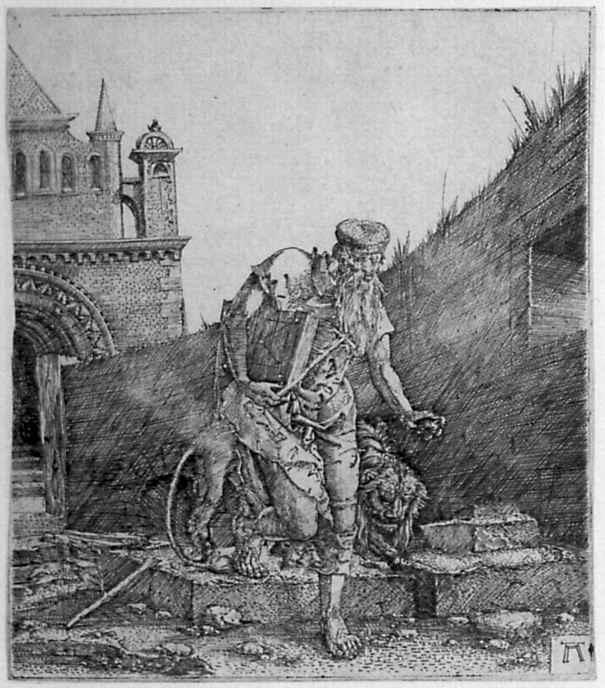 Альбрехт Альтдорфер. Святой Иероним у стены