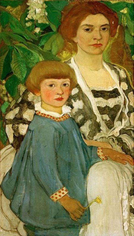 Elena Konstantinovna Luksh-Makovskaya. Self-portrait with her son Andres