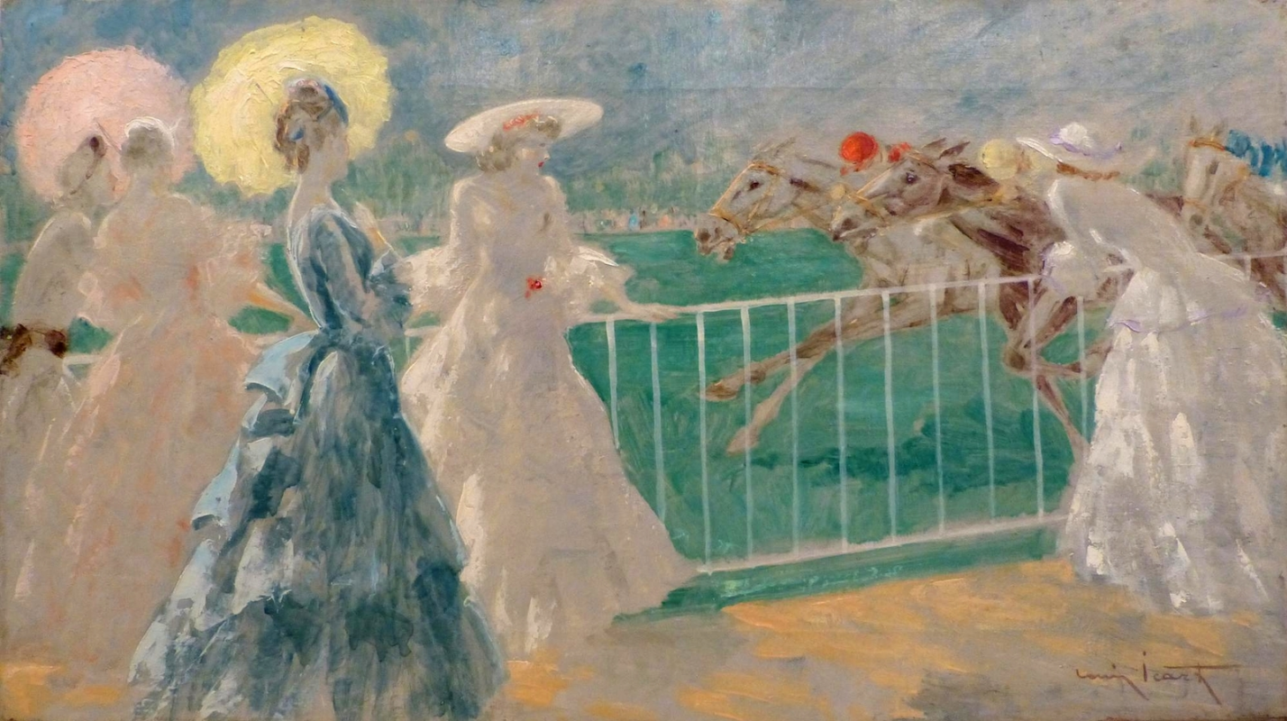 Icarus Louis France 1888 - 1950. At the races. Private meeting