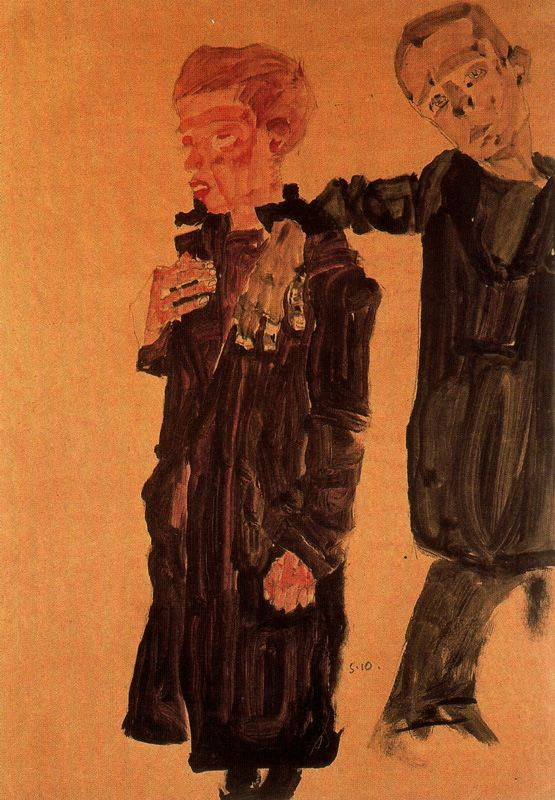 Egon Schiele. Street boys