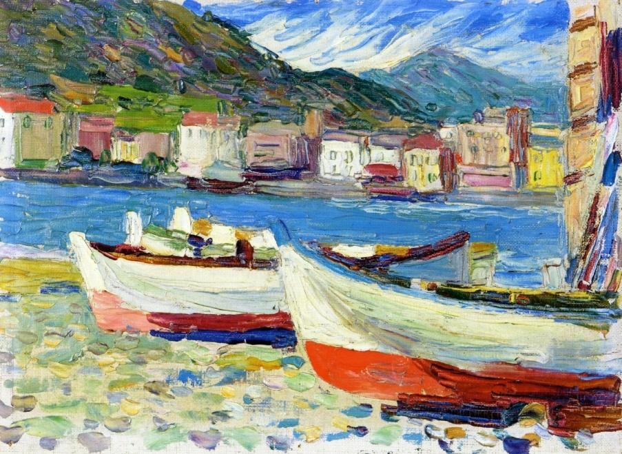 Wassily Kandinsky. Boats. Rapallo