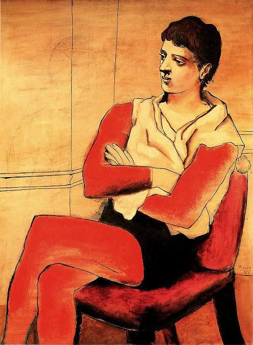 Пабло Пикассо. Акробат со скрещенными руками