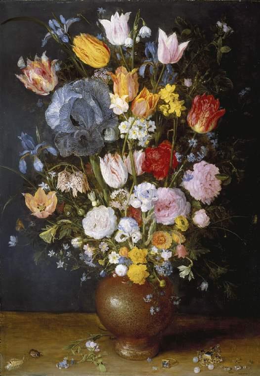 Jan Bruegel The Elder. Ceramic vase with flowers