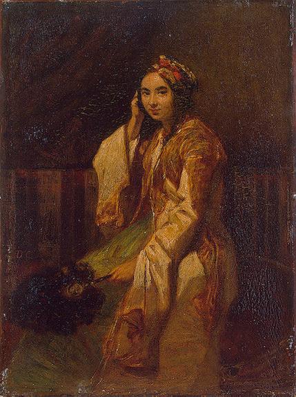 Александр-Габриэль Декампс. Женщина в восточном платье