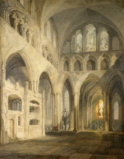 Joseph Mallord William Turner. Choirs of the Cathedral of Salisbury