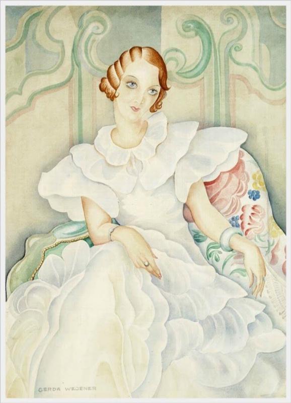 Gerda Wegener. Portrait Of Brigitte Bergman