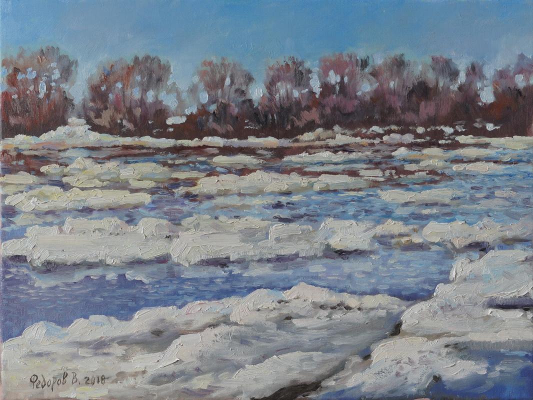 Valery Fedorov. Ice drift on the Oka