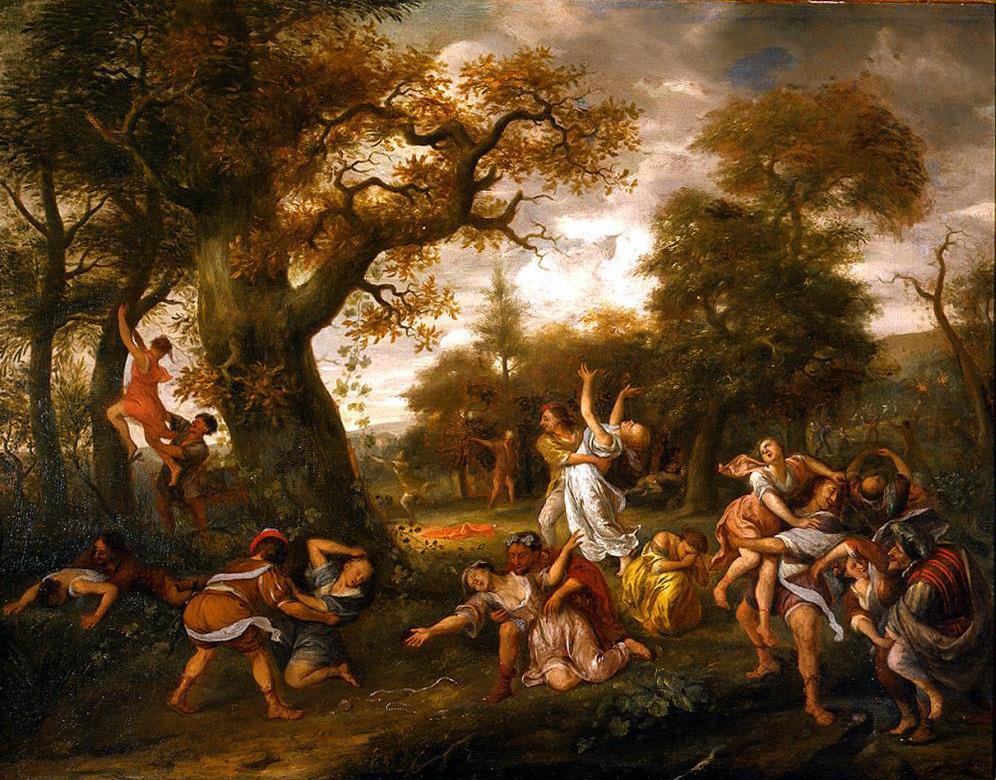 Jan Steen. The rape of the Sabine women