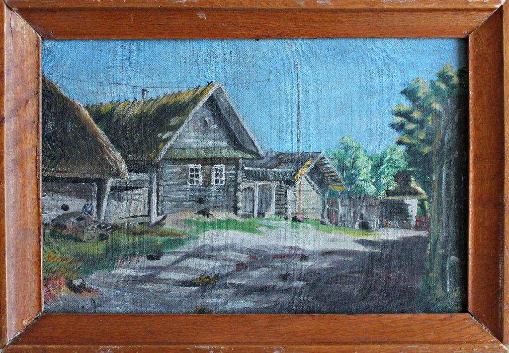 Unknown artist. Village