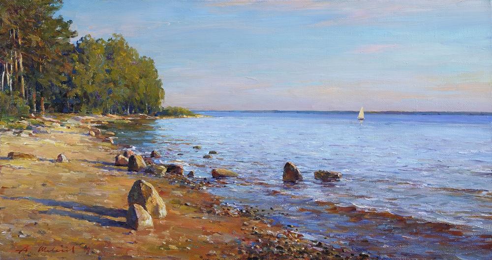 Alexander Victorovich Shevelyov. The shore of the Rybinsk sea