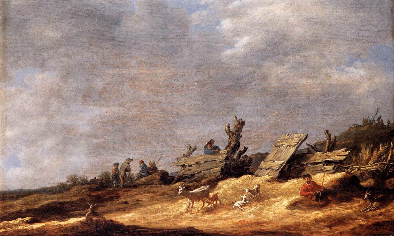 Jan van Goyen. Landscape with dunes and a shepherd