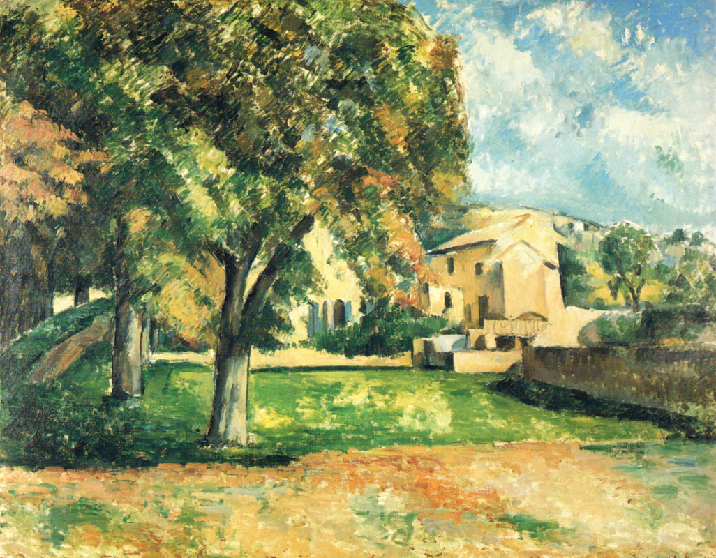 Paul Cezanne. The trees in the Park. Ms. de Bouffan