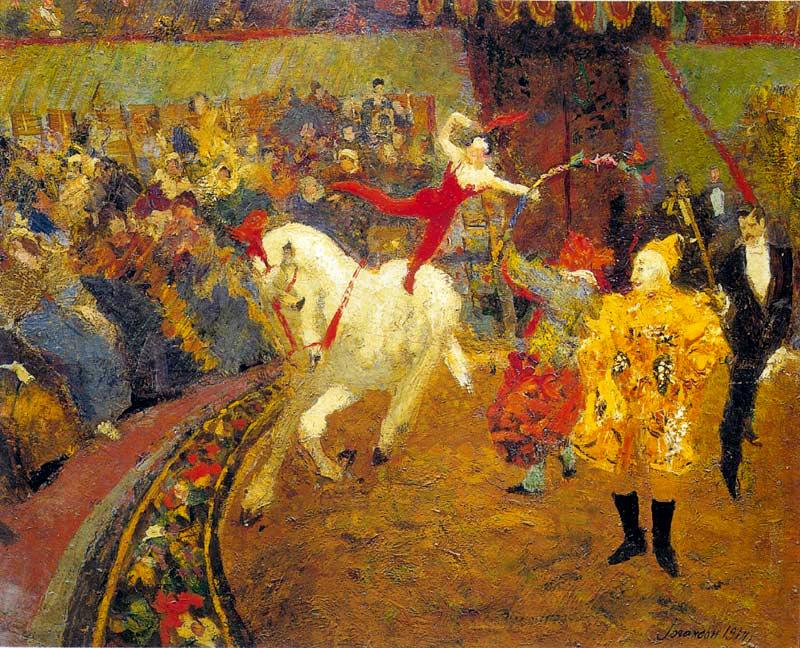 Boris Vladimirovich Johanson. At the circus