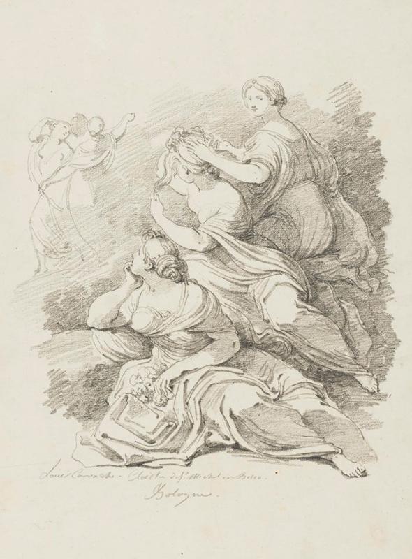 Жан Оноре Фрагонар. Группа из трех сидящих женщин (по Лодовико Карраччи)