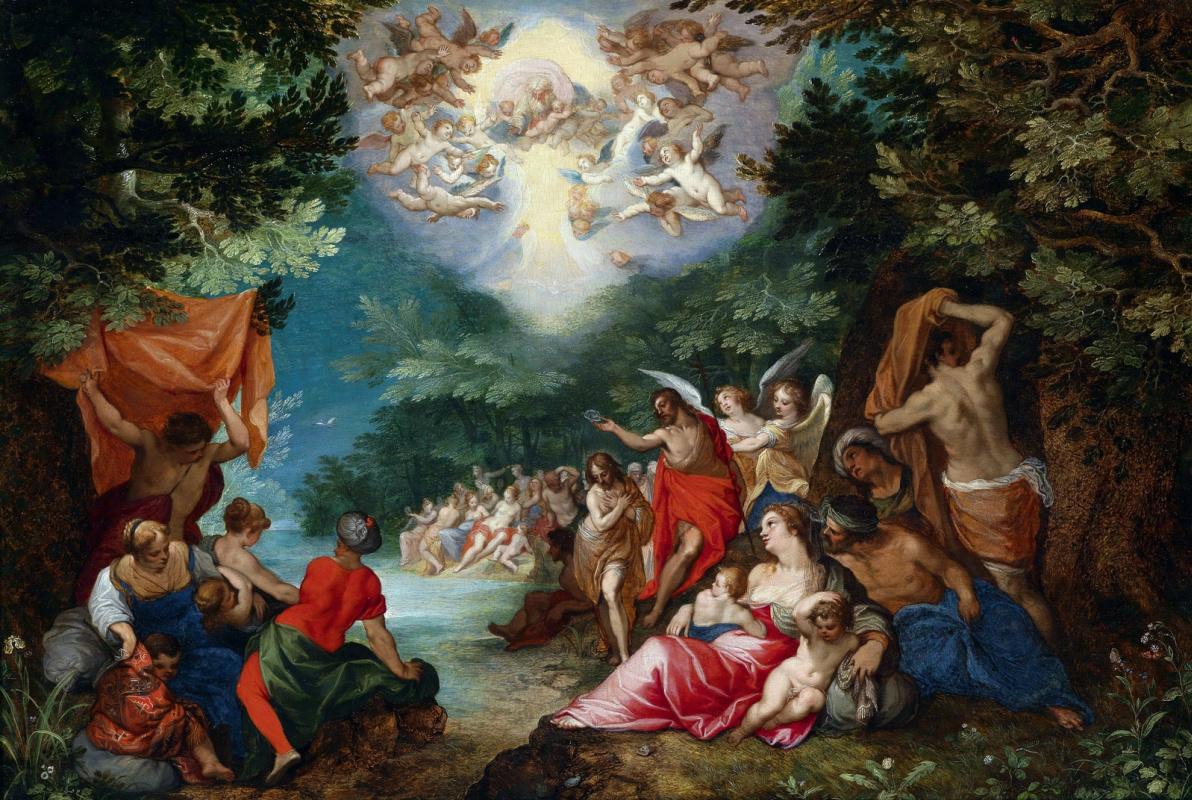Jan Bruegel The Elder. Baptism of Christ (in concert with Hans Rothtenhammer)