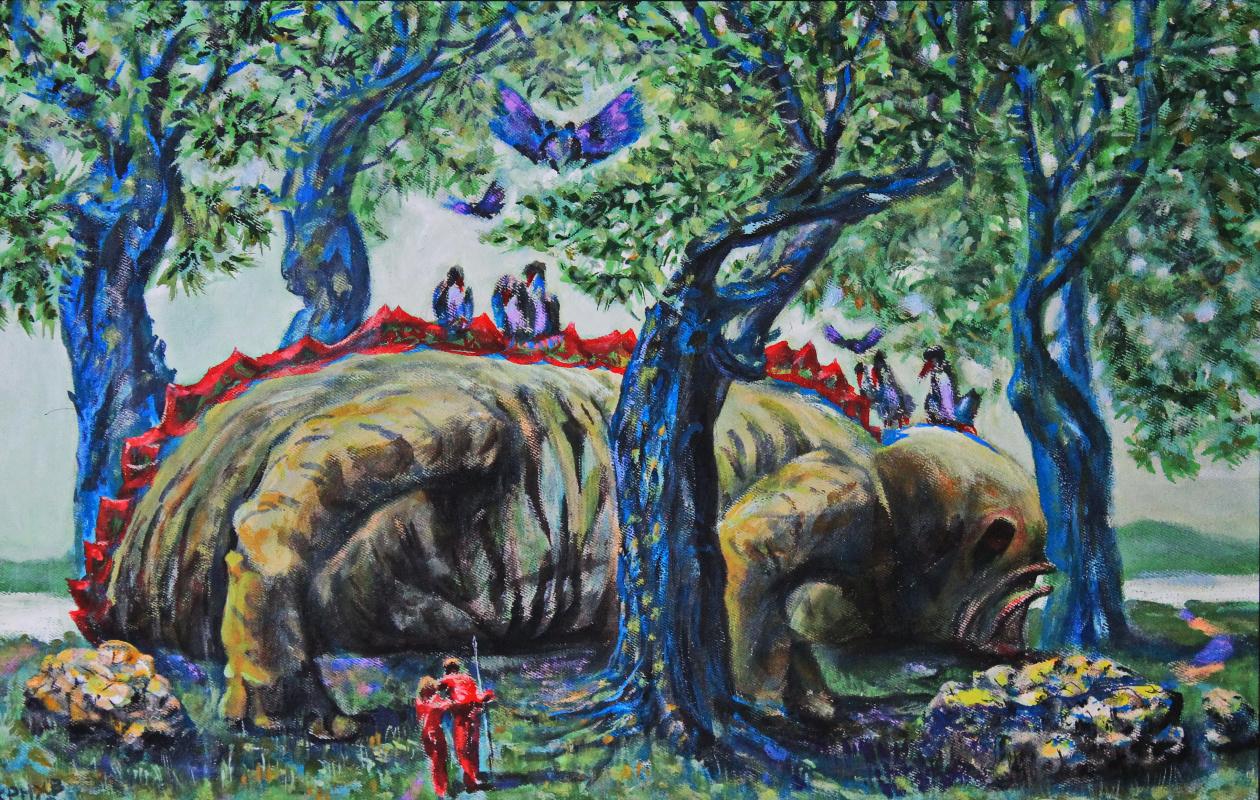 Leo Mikhailovich Karnaukhov. Extraction. acrylic on canvas 42x62 2020