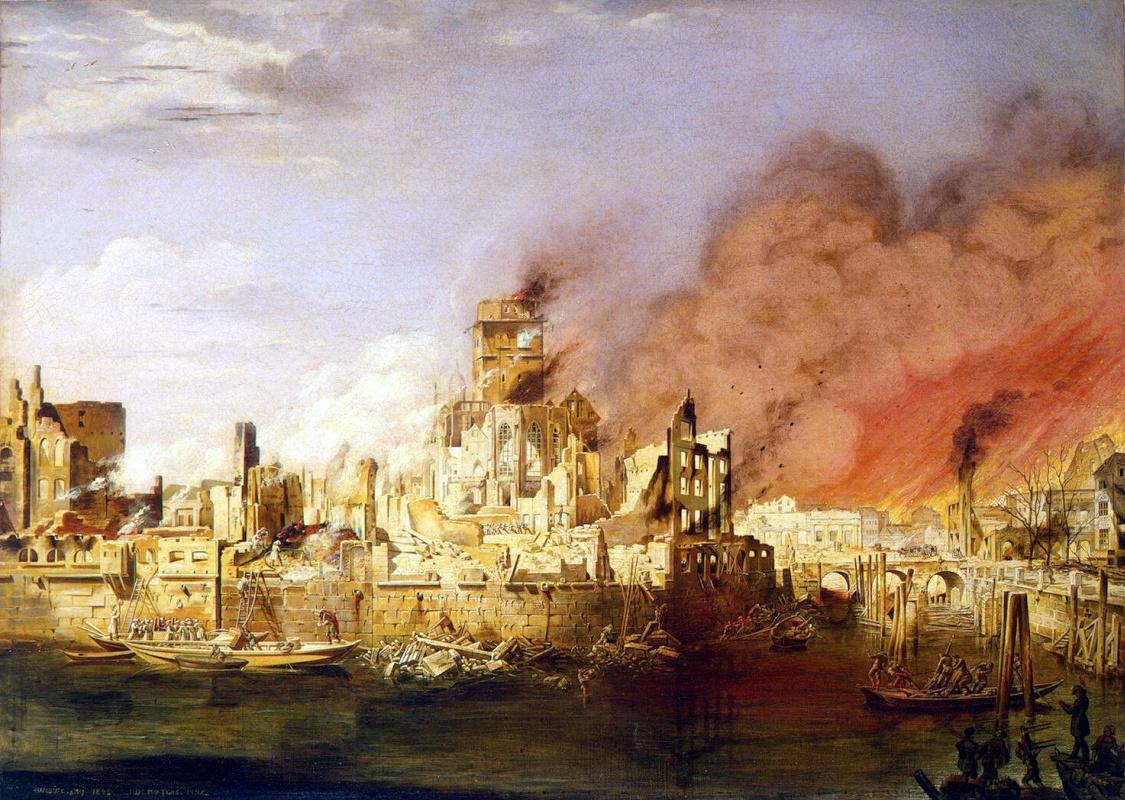 Дитлев Мартенс. Пожар в Гамбурге
