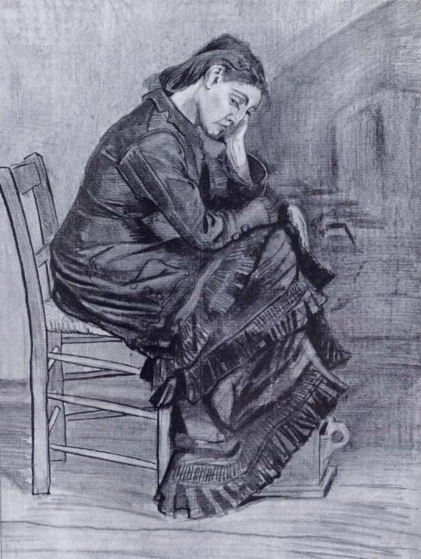 Винсент Ван Гог. Женская фигура (Син)
