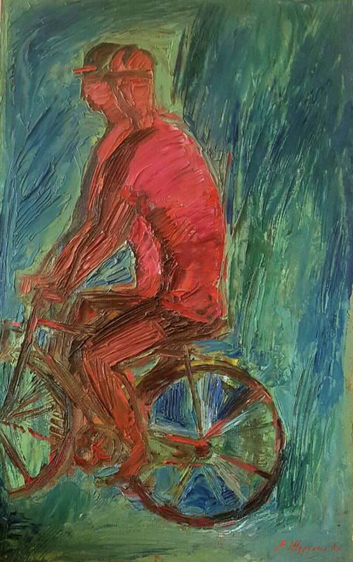 Евгений Петрович Журухин. Красные велосипедисты
