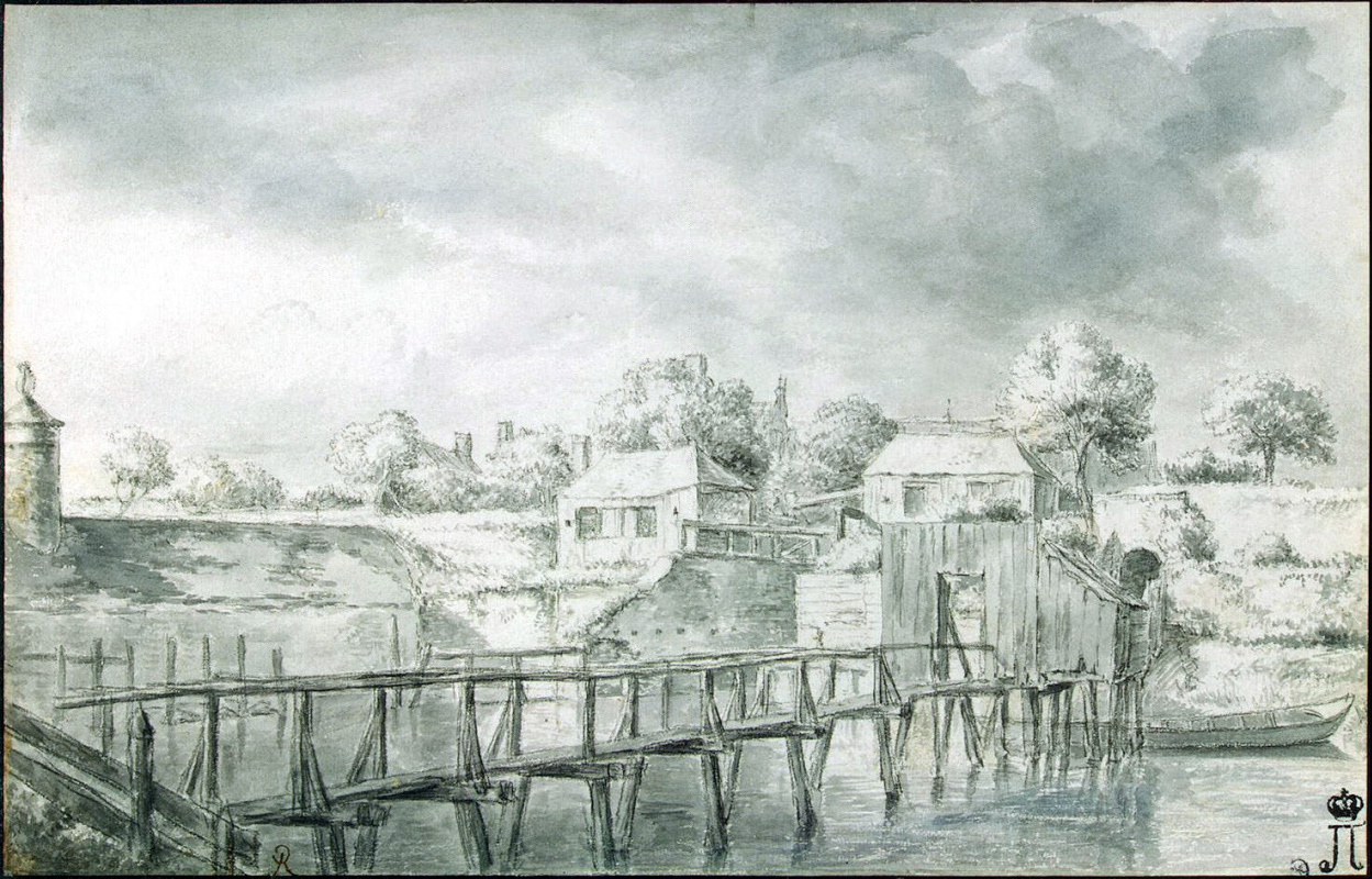Якоб Исаакс ван Рейсдал. Пейзаж с мостиками через канал