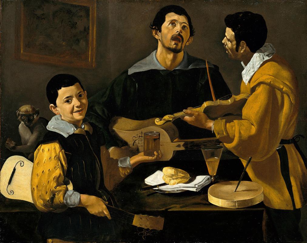 Diego Velazquez. Three musicians