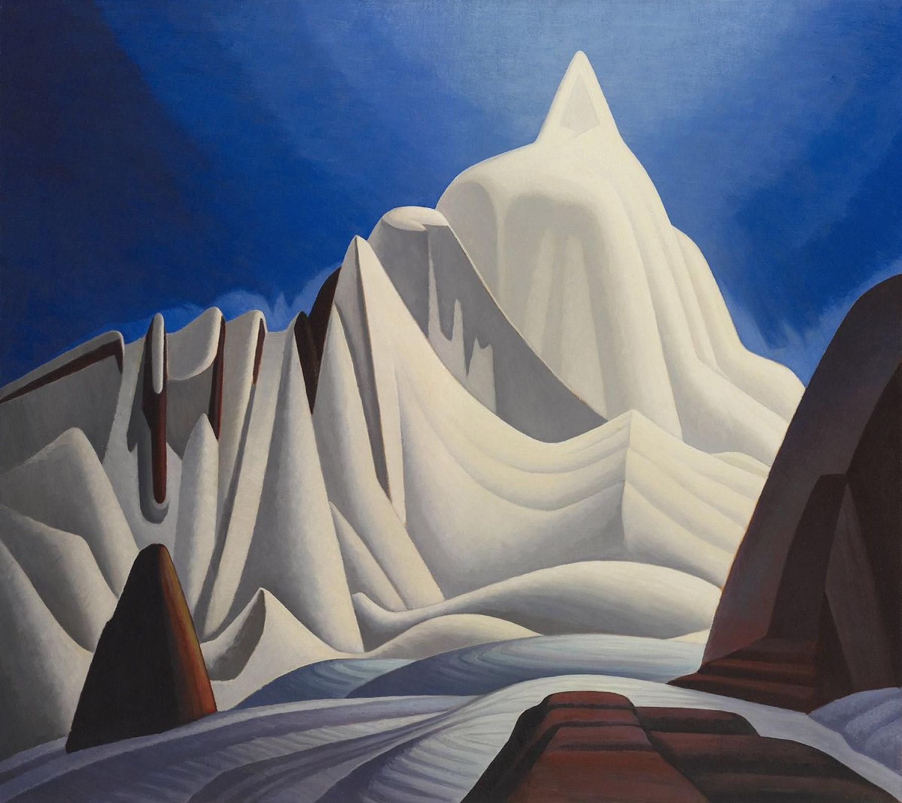 Лоурен Харрис. Горы в снегу. Скалистые горы, картина VII