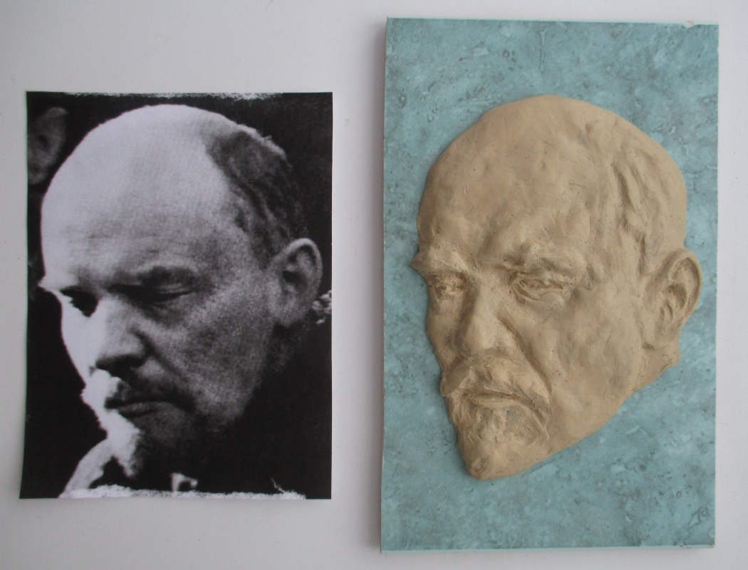 Ivan Alexandrovich Dolgorukov. Bas-relief made by me from a real photo of V. I. Lenin