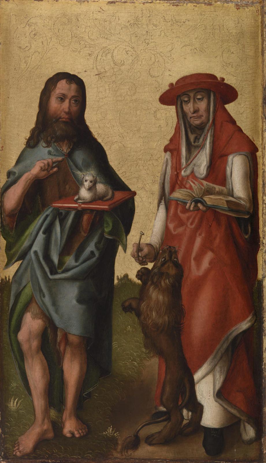 Неизвестный  художник. Святые Иоанн Креститель и Иероним
