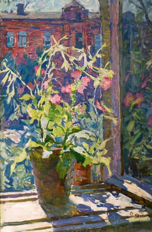 Elena Nilovna Yablonskaya. Tobacco on the window