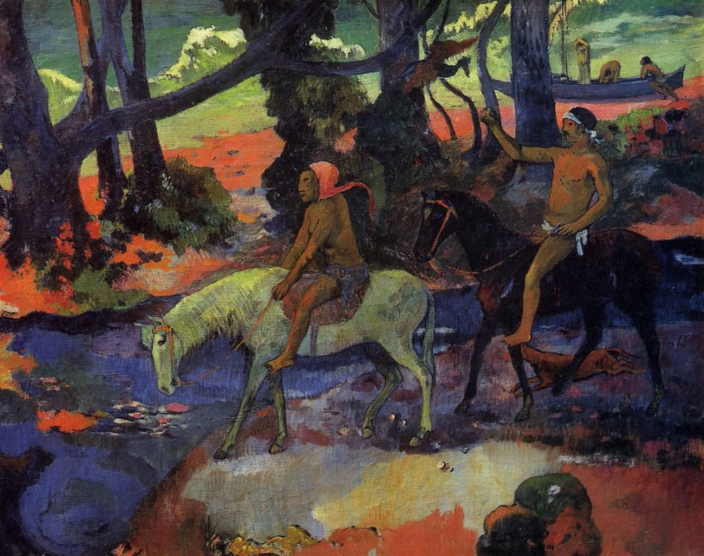 Paul Gauguin. The Ford. The Flight