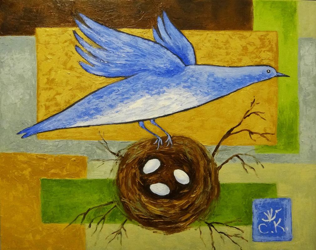 Svetlana Konstantinova. Bluebird nest
