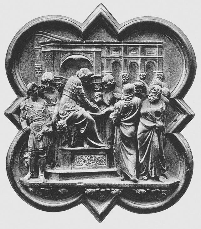 Лоренцо Гиберти. Пилат умывает руки