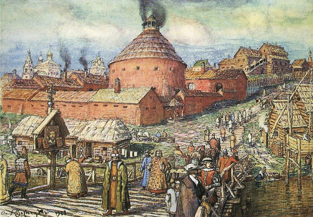 Аполлинарий Михайлович Васнецов. Пушечно-литейный двор на реке Неглинной