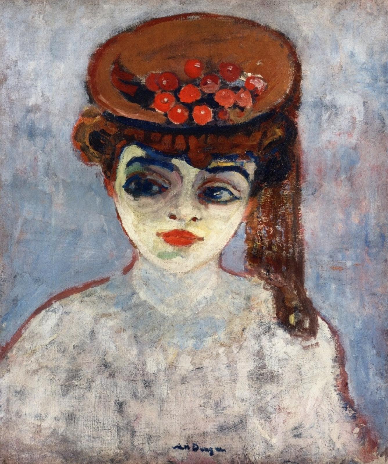 Кес Ван Донген. Женщина с вишнями на шляпке